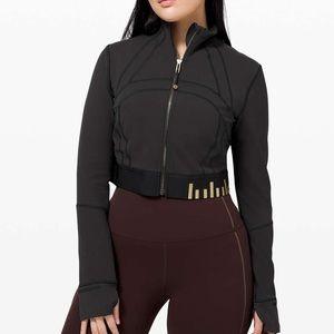 Lululemon Define Jacket Cropped Black / Gold 12